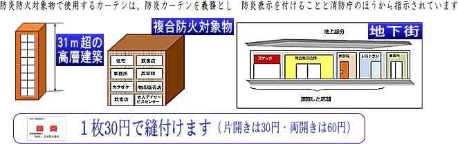 防炎ラベルの説明